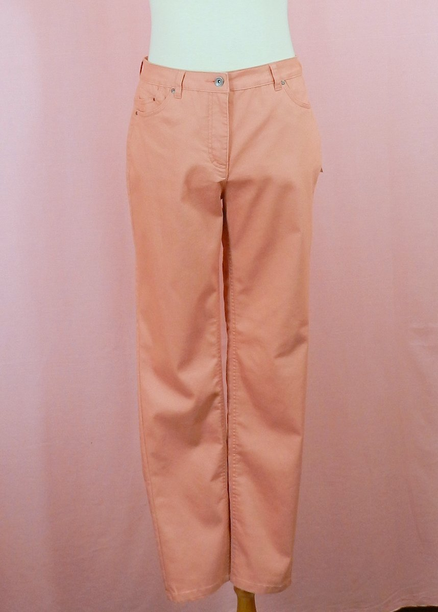 pantalon terracotta taille haute stretch