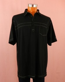 polo manches courtes noir - homme grande taille