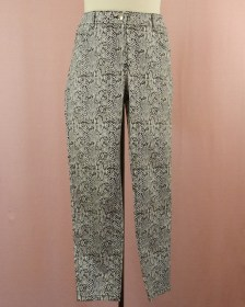 superbe pantalon original impressions serpent couleurs pastel