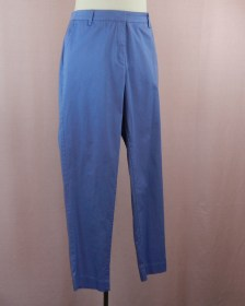 pantalon bleu en bengaline coton stretch - coupe confortable