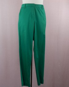 pantalon vert en bengaline coton stretch - coupe confortable