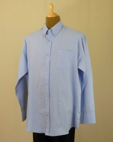 Chemise grande taille oxford bleue manches longues